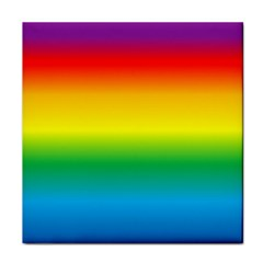 Rainbow Background Colourful Face Towel by Simbadda