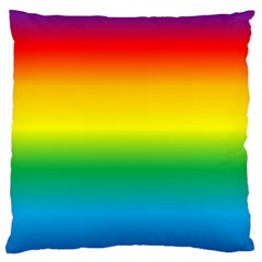 Rainbow Background Colourful Large Cushion Case (two Sides) by Simbadda