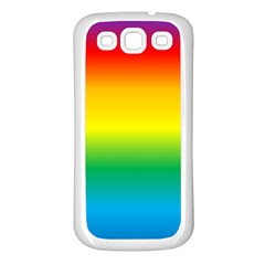 Rainbow Background Colourful Samsung Galaxy S3 Back Case (white)