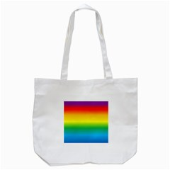 Rainbow Background Colourful Tote Bag (white)
