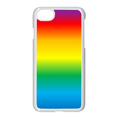 Rainbow Background Colourful Apple Iphone 7 Seamless Case (white) by Simbadda