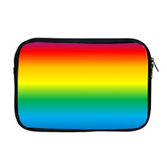 Rainbow Background Colourful Apple Macbook Pro 17  Zipper Case by Simbadda
