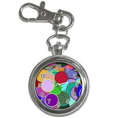 Dots Circles Colorful Unique Key Chain Watches by Simbadda