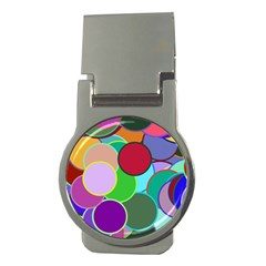 Dots Circles Colorful Unique Money Clips (round)  by Simbadda