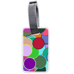 Dots Circles Colorful Unique Luggage Tags (two Sides)