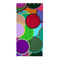 Dots Circles Colorful Unique Shower Curtain 36  X 72  (stall)  by Simbadda