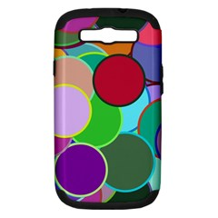 Dots Circles Colorful Unique Samsung Galaxy S Iii Hardshell Case (pc+silicone) by Simbadda