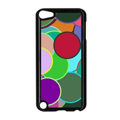 Dots Circles Colorful Unique Apple Ipod Touch 5 Case (black) by Simbadda