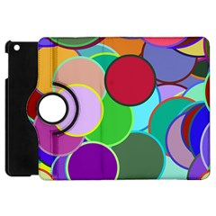 Dots Circles Colorful Unique Apple Ipad Mini Flip 360 Case by Simbadda