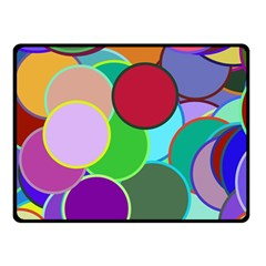 Dots Circles Colorful Unique Double Sided Fleece Blanket (small)  by Simbadda