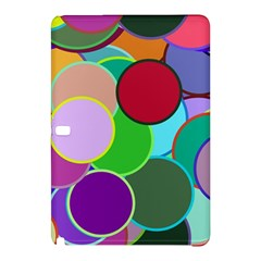 Dots Circles Colorful Unique Samsung Galaxy Tab Pro 12 2 Hardshell Case by Simbadda