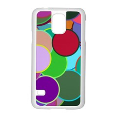 Dots Circles Colorful Unique Samsung Galaxy S5 Case (white) by Simbadda