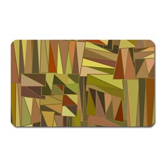 Earth Tones Geometric Shapes Unique Magnet (rectangular) by Simbadda