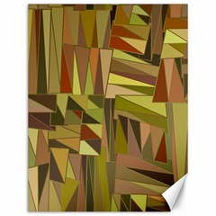 Earth Tones Geometric Shapes Unique Canvas 12  X 16   by Simbadda