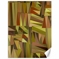 Earth Tones Geometric Shapes Unique Canvas 36  X 48   by Simbadda