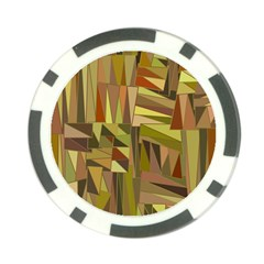 Earth Tones Geometric Shapes Unique Poker Chip Card Guard by Simbadda
