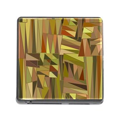 Earth Tones Geometric Shapes Unique Memory Card Reader (square) by Simbadda