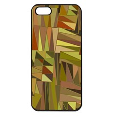 Earth Tones Geometric Shapes Unique Apple Iphone 5 Seamless Case (black) by Simbadda