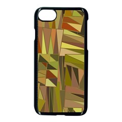 Earth Tones Geometric Shapes Unique Apple Iphone 7 Seamless Case (black) by Simbadda