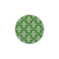 St Patrick S Day Damask Vintage Green Background Pattern Golf Ball Marker (4 Pack)