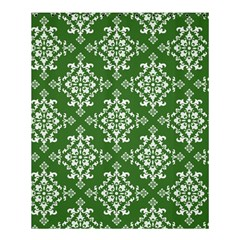 St Patrick S Day Damask Vintage Green Background Pattern Shower Curtain 60  X 72  (medium)  by Simbadda