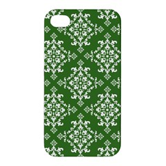 St Patrick S Day Damask Vintage Green Background Pattern Apple Iphone 4/4s Premium Hardshell Case