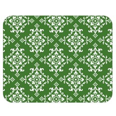 St Patrick S Day Damask Vintage Green Background Pattern Double Sided Flano Blanket (medium)