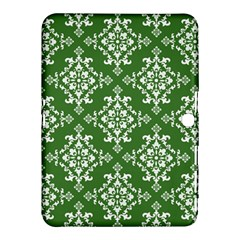 St Patrick S Day Damask Vintage Green Background Pattern Samsung Galaxy Tab 4 (10 1 ) Hardshell Case  by Simbadda