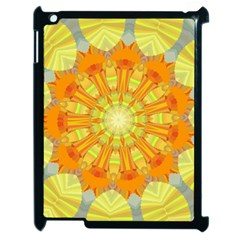 Sunshine Sunny Sun Abstract Yellow Apple Ipad 2 Case (black) by Simbadda