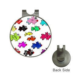 Fishes Marine Life Swimming Water Hat Clips With Golf Markers