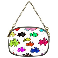 Fishes Marine Life Swimming Water Chain Purses (one Side)