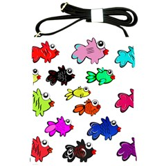 Fishes Marine Life Swimming Water Shoulder Sling Bags by Simbadda