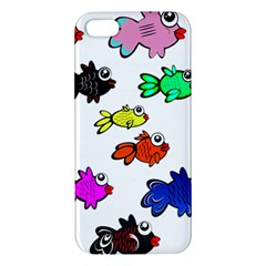 Fishes Marine Life Swimming Water Apple Iphone 5 Premium Hardshell Case by Simbadda