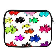Fishes Marine Life Swimming Water Apple Ipad 2/3/4 Zipper Cases