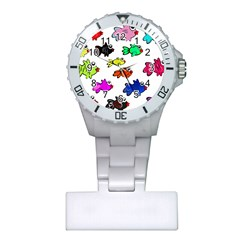 Fishes Marine Life Swimming Water Plastic Nurses Watch by Simbadda
