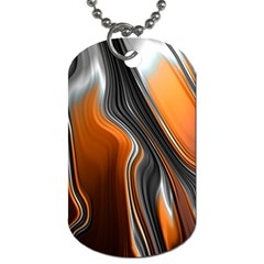 Fractal Structure Mathematics Dog Tag (one Side) by Simbadda