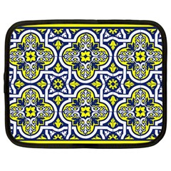 Tiles Panel Decorative Decoration Netbook Case (large) by Simbadda