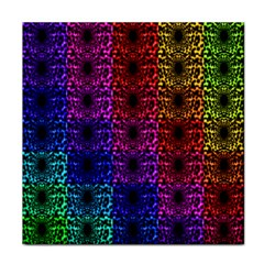 Rainbow Grid Form Abstract Tile Coasters