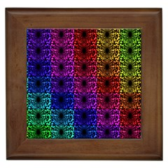 Rainbow Grid Form Abstract Framed Tiles by Simbadda