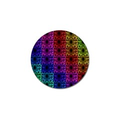Rainbow Grid Form Abstract Golf Ball Marker by Simbadda