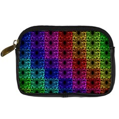 Rainbow Grid Form Abstract Digital Camera Cases by Simbadda