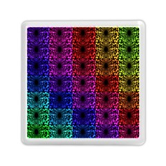 Rainbow Grid Form Abstract Memory Card Reader (square)