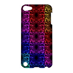 Rainbow Grid Form Abstract Apple Ipod Touch 5 Hardshell Case by Simbadda