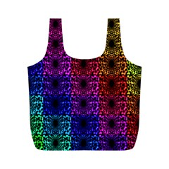 Rainbow Grid Form Abstract Full Print Recycle Bags (m)  by Simbadda