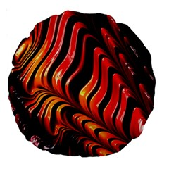 Fractal Mathematics Abstract Large 18  Premium Round Cushions