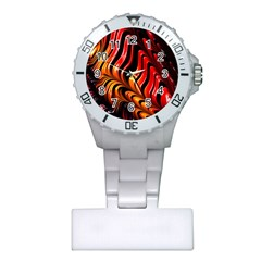 Fractal Mathematics Abstract Plastic Nurses Watch