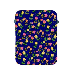 Flowers Roses Floral Flowery Blue Background Apple Ipad 2/3/4 Protective Soft Cases by Simbadda