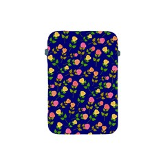 Flowers Roses Floral Flowery Blue Background Apple Ipad Mini Protective Soft Cases by Simbadda