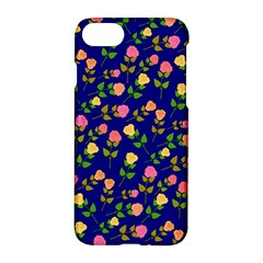 Flowers Roses Floral Flowery Blue Background Apple Iphone 7 Hardshell Case