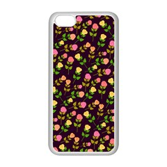 Flowers Roses Floral Flowery Apple Iphone 5c Seamless Case (white)